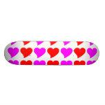 Regalos románticos de los chicas: Corazones rosado Patineta Personalizada