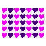 Regalos románticos de los chicas: Rayas rosadas de Tarjetón