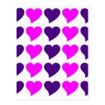 Regalos románticos de los chicas: Rayas rosadas de Tarjeta Postal