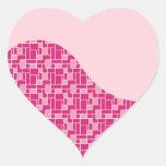 Regalos rosados bonitos del modelo de onda de la pegatina en forma de corazón
