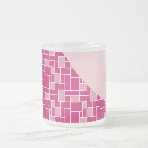 Regalos rosados bonitos del modelo de onda de la taza cristal mate
