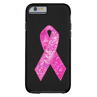Regalos rosados de la chispa de la cinta funda de iPhone 6 tough