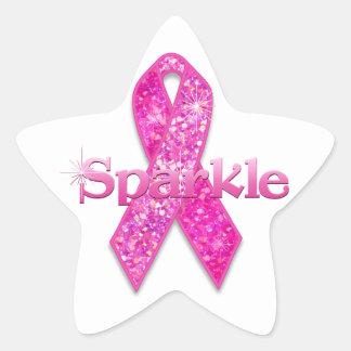 Regalos rosados de la chispa de la cinta pegatina en forma de estrella