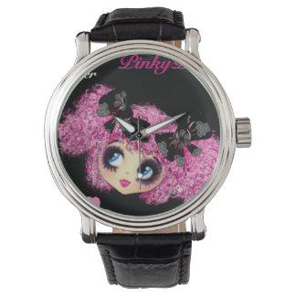 Regalos rosados de la promesa para BFF con PinkyP Relojes