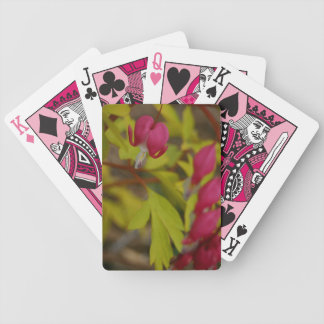 Regalos rosados de los playingcards de las flores baraja
