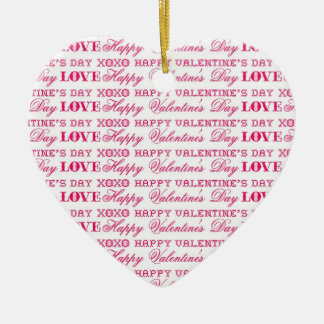 Regalos rosados del el día de San Valentín feliz d Adorno De Reyes