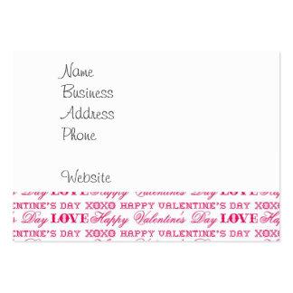 Regalos rosados del el día de San Valentín feliz d Plantillas De Tarjeta De Negocio