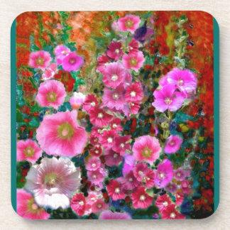 Regalos rosados del jardín del Hollyhock por Sharl Posavaso