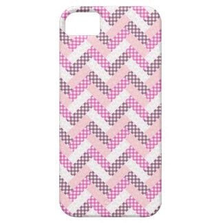 Regalos rosados del modelo del edredón del zigzag iPhone 5 carcasa