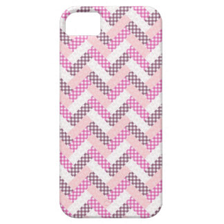 Regalos rosados del modelo del edredón del zigzag iPhone 5 fundas