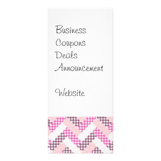 Regalos rosados del modelo del edredón del zigzag  lona publicitaria