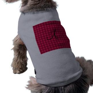 Regalos rosados del monograma del argyle camiseta sin mangas para perro