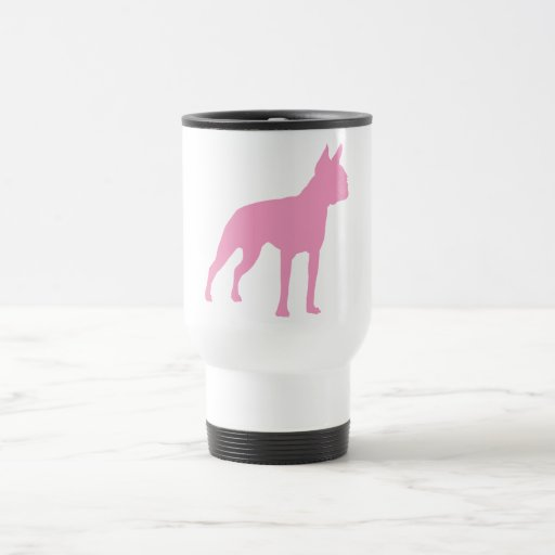 Regalos rosados del perro de Boston Terrier Taza De Viaje De Acero Inoxidable