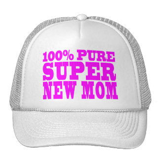 Regalos rosados frescos 4 nuevas mamáes: Nueva mam Gorras
