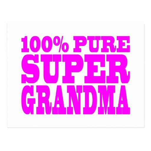 Regalos rosados frescos para las abuelas: Abuela Tarjeta Postal