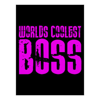 Regalos rosados frescos para los jefes: Mundos Bos Póster