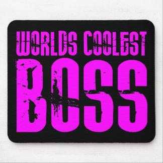 Regalos rosados frescos para los jefes Mundos Bos Alfombrillas De Ratón