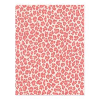 Regalos rosados y poner crema del estampado tarjetas postales