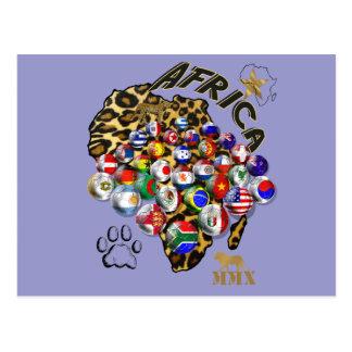 Regalos salvajes del futbol del estilo del safari tarjetas postales
