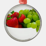 Regalos sanos del destino de la ensalada de fruta adorno de navidad