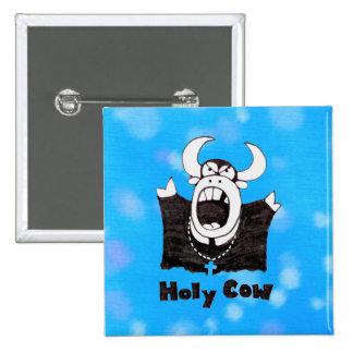 Regalos santos santos de Bull del dibujo animado d Pin Cuadrada 5 Cm