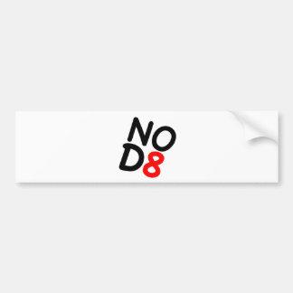 Regalos satíricos NOD8 Etiqueta De Parachoque