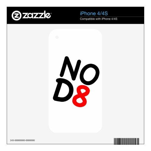 Regalos satíricos NOD8 Calcomanía Para iPhone 4S