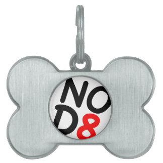 Regalos satíricos NOD8 Placas De Mascota