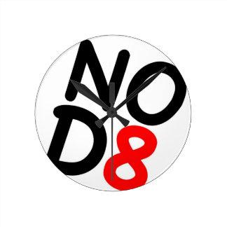 Regalos satíricos NOD8 Reloj De Pared