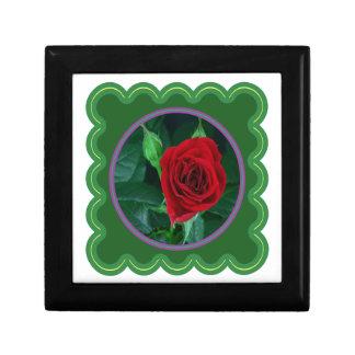 Regalos sensuales florales de la imagen 100 de la joyero cuadrado pequeño