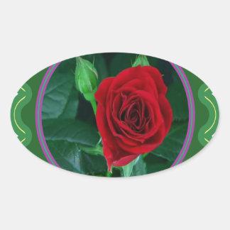 Regalos sensuales florales de la imagen 100 de la pegatina ovalada