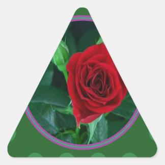 Regalos sensuales florales de la imagen 100 de la pegatina triangular