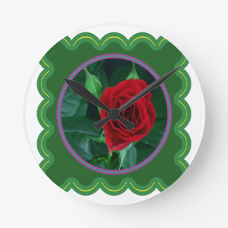 Regalos sensuales florales de la imagen 100 de la reloj redondo mediano