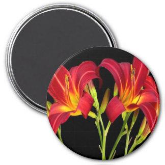 Regalos sensuales románticos de la flor exótica de imán redondo 7 cm