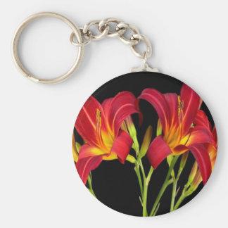 Regalos sensuales románticos de la flor exótica de llavero redondo tipo pin