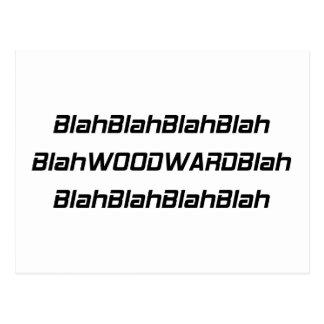 Regalos sosos sosos de Woodward Woodward por Gear4 Postal