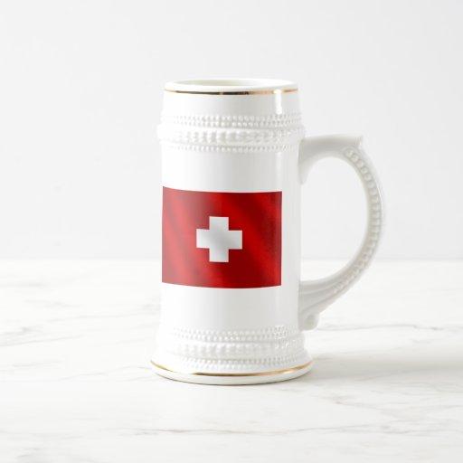 Regalos suizos básicos de Suisse de la bandera par Taza De Café