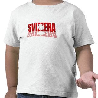 Regalos suizos italianos del logotipo suizo de la camiseta