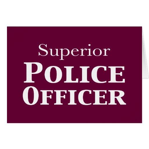 Regalos superiores del oficial de policía tarjeton