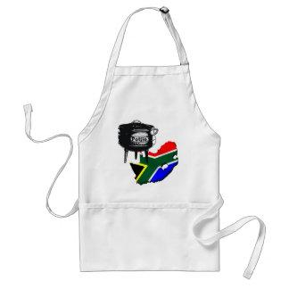 Regalos surafricanos de la bandera de los amantes  delantal