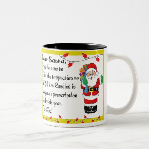 Regalos temáticos del navidad divertido del farmac taza