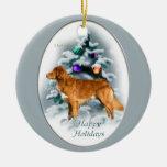 Regalos tocantes del navidad del perro perdiguero  adornos de navidad
