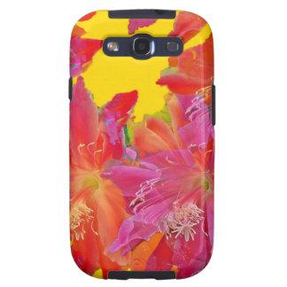 Regalos tropicales de las flores diseñados por galaxy SIII cobertura