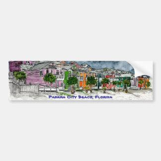 Regalos tropicales del arte de la Florida de la pl Pegatina De Parachoque