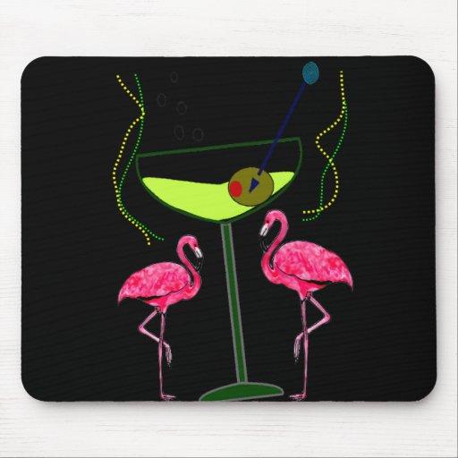 Regalos tropicales del arte del flamenco alfombrilla de ratón