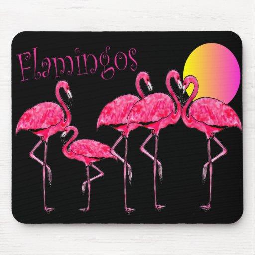 Regalos tropicales del arte del flamenco tapete de ratones