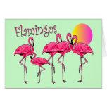 Regalos tropicales del arte del flamenco felicitación