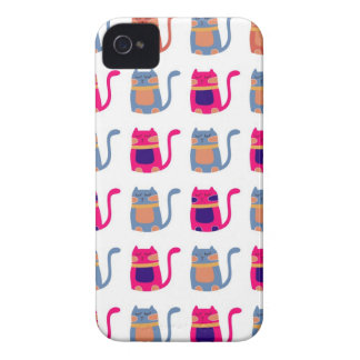 Regalos únicos azules del gatito del melón rosado iPhone 4 Case-Mate fundas