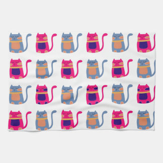 Regalos únicos azules del gatito del melón rosado  toalla