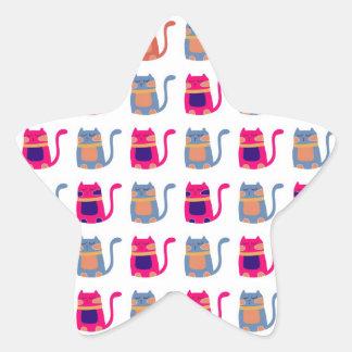 Regalos únicos azules del gatito del melón rosado pegatinas forma de estrellaes personalizadas